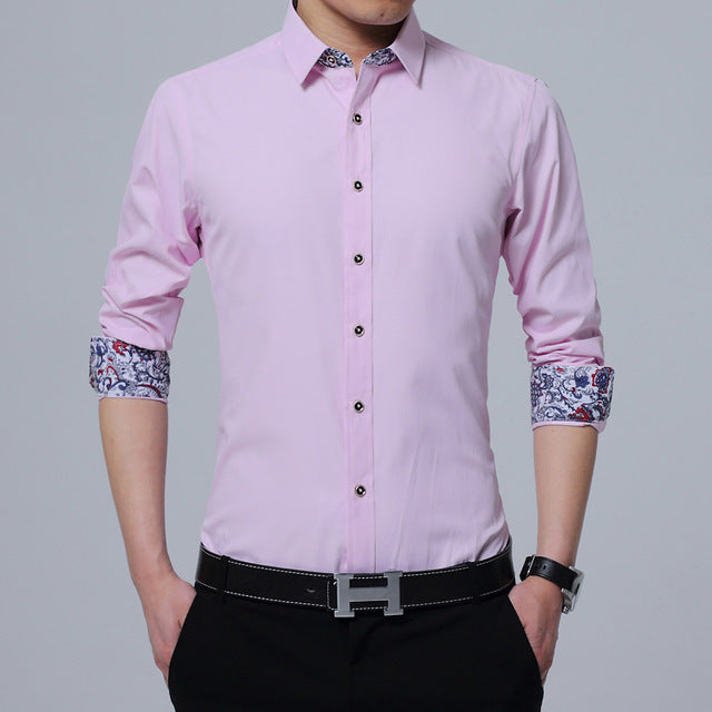 Collor White Long Sleeve Shirt