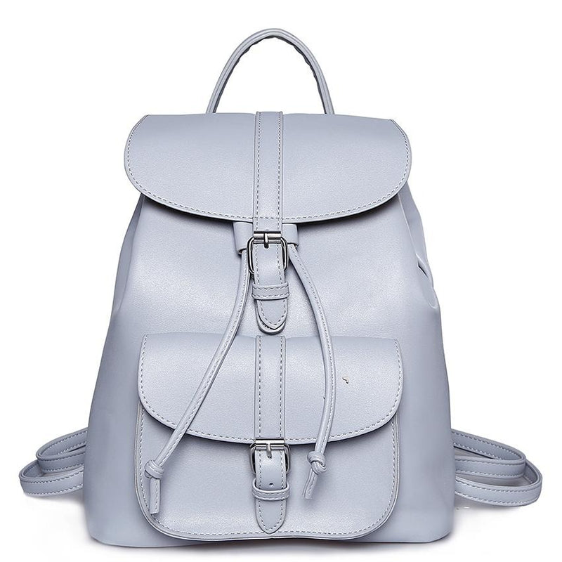 Pu Leather Backpack Women School Bags