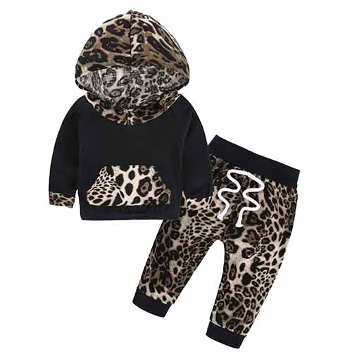 Long Sleeve Hooded Tops Floral Pant