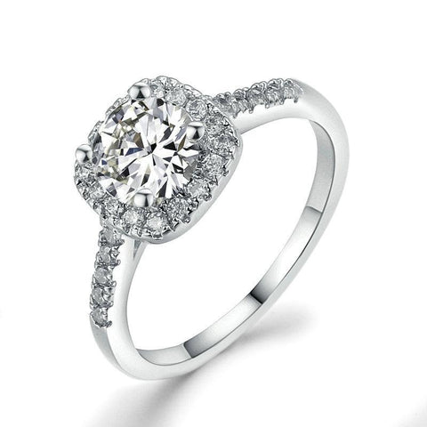 Square Wedding & Engagement Ring