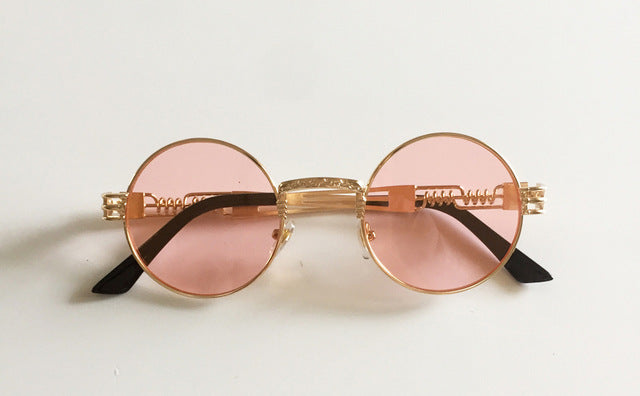 Vintage Retro Gothic Steampunk Mirror Sunglasses