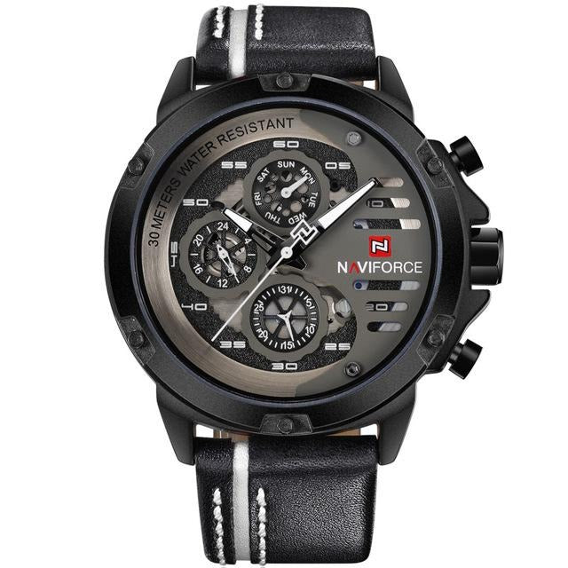 Luxury Military Sport Leather Quartz wristwatches