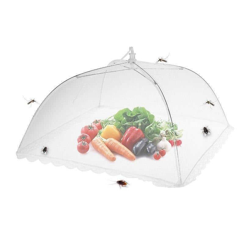 6pcs Large Pop-Up Mesh Screen Food Cover Tent Umbrella Reusable and Collapsible Outdoor Picnic Food Covers Mesh Food Cover Net