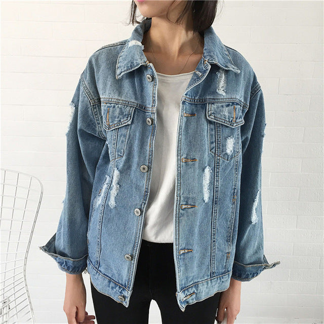 Summer Ripped Denim Jacket