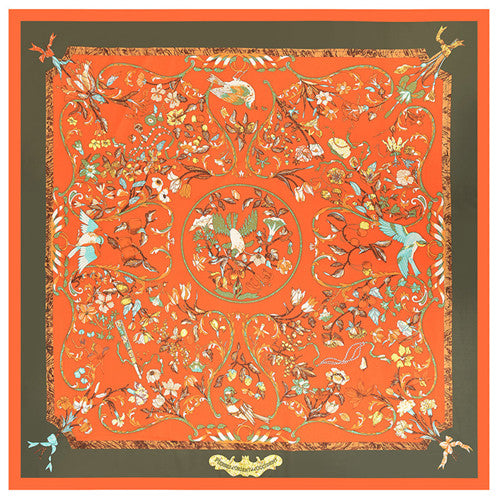 Lucky Birds Nest Print Square Scarves