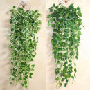 Artificial Plants Home Wedding Decoration Green Plant Ivy Leaf Artificial Flower Plastic Garland Vine artificial flowers wall