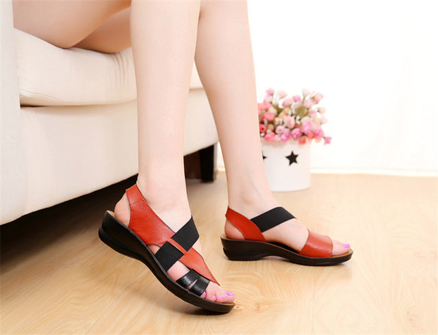 Woman Soft bottom middle-aged Sandals