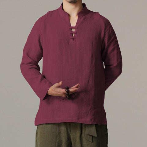 Vintage Retro Chinese Style Linen Shirts