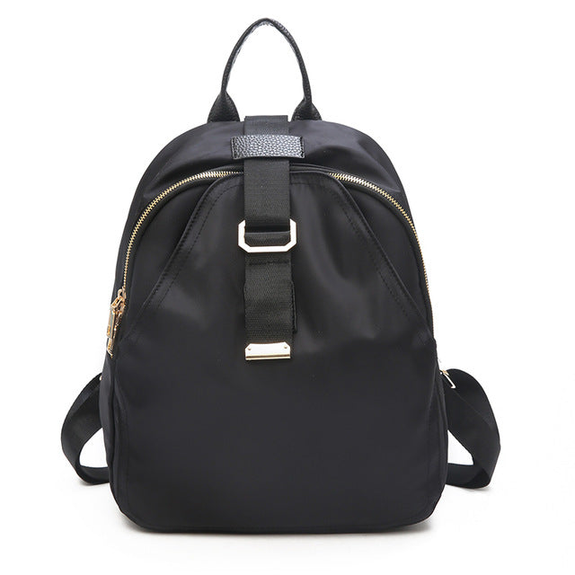 Zipper Solid Girl Schoolbag
