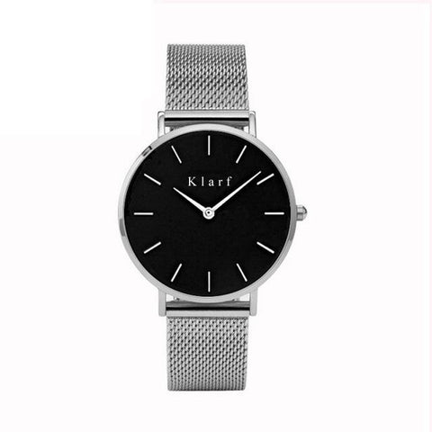 Leather Band Tonneau Shape Quartz Ladies men Watch