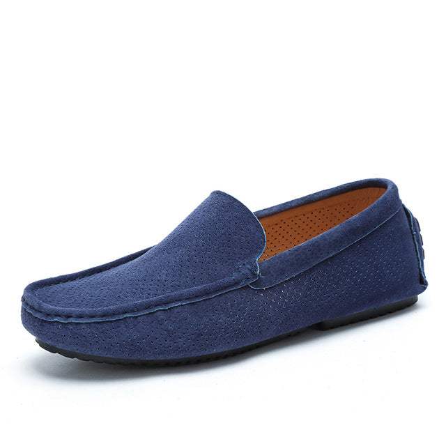 Summer Men Loafers Genuine Leather Casual Shoes