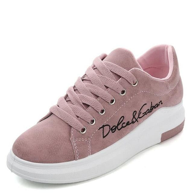 Wedges Pink Platform Sneakers Women Vulcanize Shoes