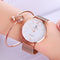 Bracelet Rose Gold Female Dress Wrist Watch
