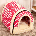CAWAYI KENNEL Dual Use Soft Plush Dog Bed Dog Kennel Pet House For Puppy Dogs Cat Small Animals Mat U0856