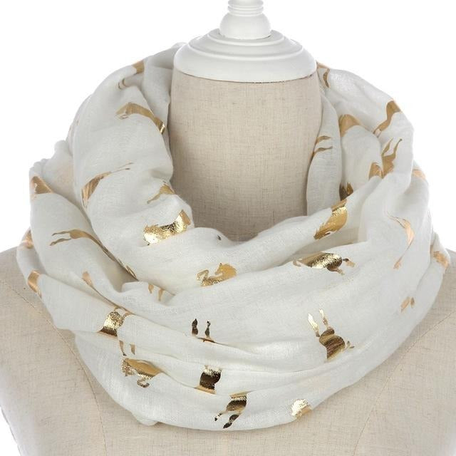 Unicorn Running Horse Scarf