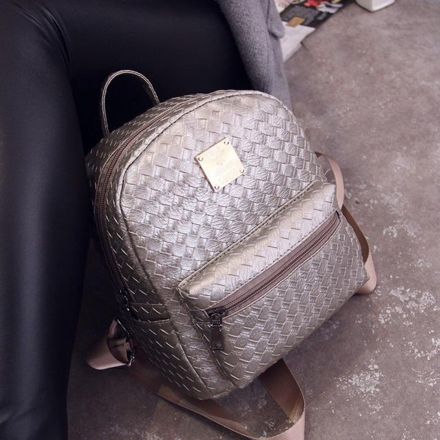 Female Weave Shoulder Bag