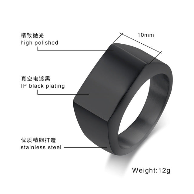 Stainless Steel irregular Ring