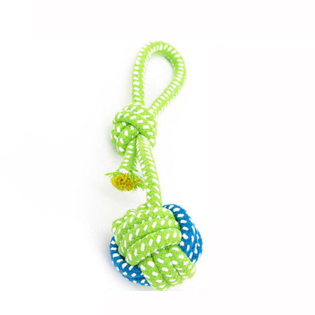 Green Rope Ball Toy For Small Dog