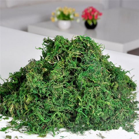 Promotion!!FAKE Artificial Dried Reindeer Moss for Flowers Grass Basket Plant Home Garden Garland Wedding Party DIY Decoration