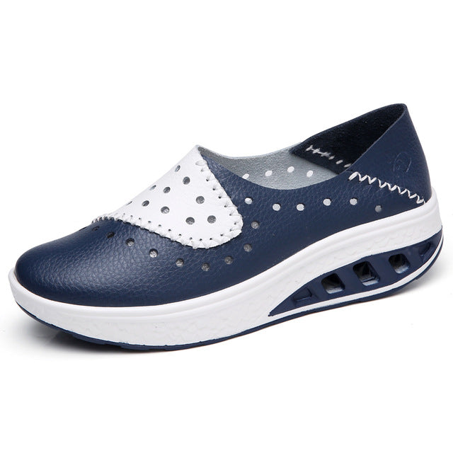 Summer women genuine leather flats