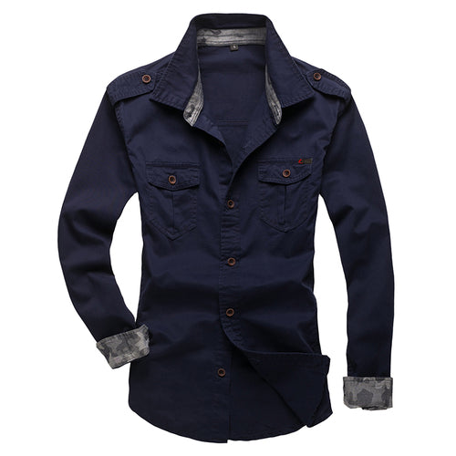 Cotton Shoulder Strap Long-sleeved Shirt
