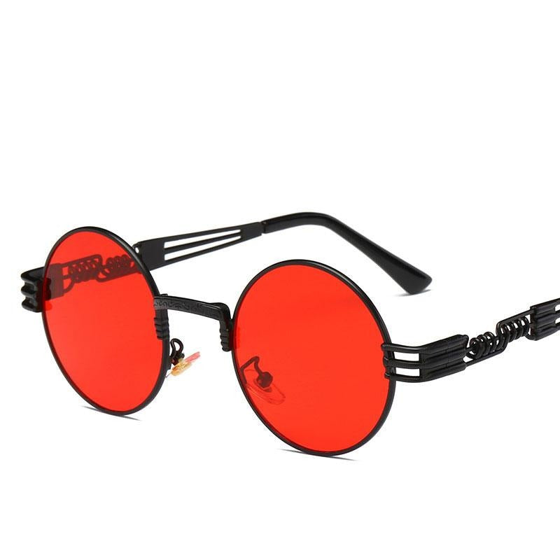Luxury Men Round Sun glass Coating Glasses