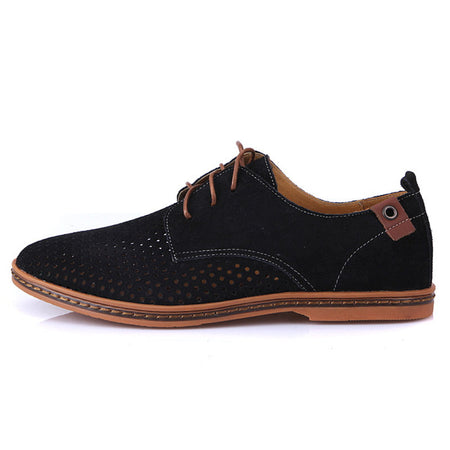 Summer Suede Men Flat Casual Shoes