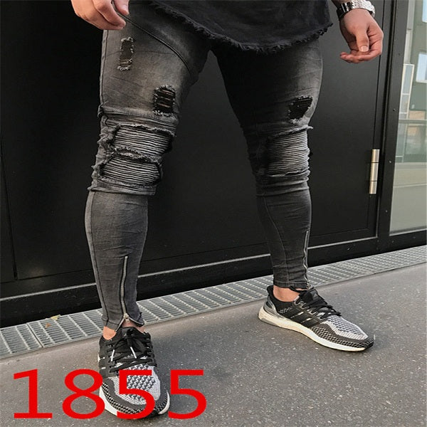 Hip hop biker pants