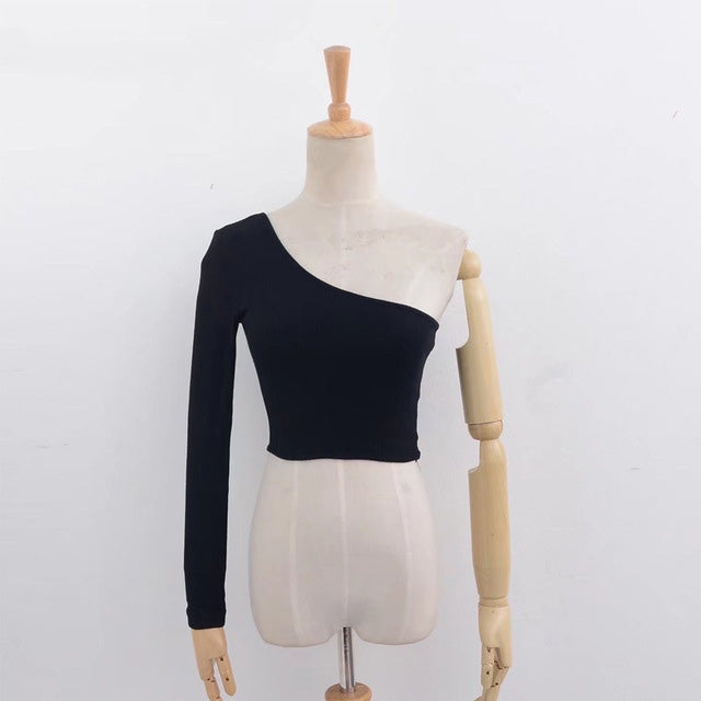 Female Knitted Crop Top