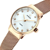 Rose Gold Luxury Quartz Ladies Watch