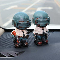 Car Ornaments Cute Resin Doll For PUBG Playerunknowns Battlegrounds Automotive Interior Dashboard Decoration Figure Gift Toys