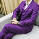 Mens 3 Pieces (jacket + vest + trousers) Male Busines Dress
