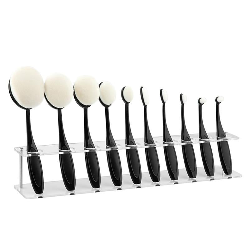 10 Grid Makeup and Toothbrush Holder