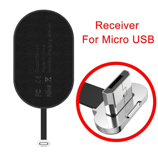 Baseus Qi Wireless Charger Receiver For iPhone 7 6 6s 5 Wireless Charging Micro Type C Adapter For Samsung Xiaomi Android Phone
