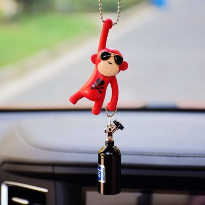 Car Pendant Hanging Monkey  Car Interior Ornaments Decoration Rear View Mirror Accessories For Car Ornament