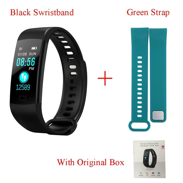 Tonbux Y5 Smart Band Heart Rate Tracker Fitness Tracker Y5 Smartband Smart Bracelet Waterproof Smart Wristband Smart Watch Men