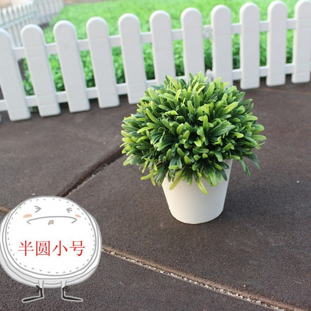 Home Wedding Festival Decorative Artificial Bonsai Wreaths Artificial Flower Potted Bonsai Fake Flower Plant Trees Free Shipping