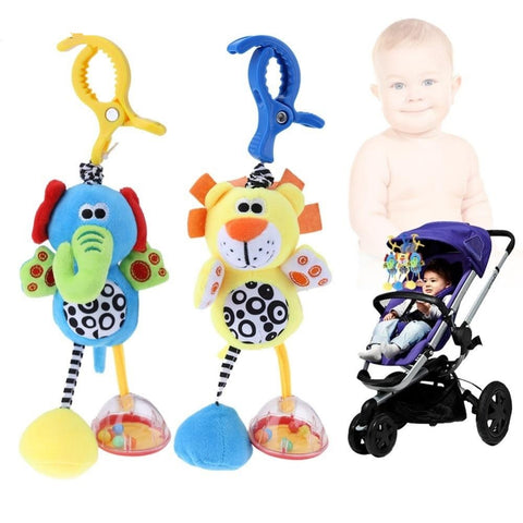 Baby Kids Rattles Toys Cotton Stroller Pram Crib Hanging Soft Plush Toys Animal Clip Baby Crib Bed Hanging Bells Toys For Babies
