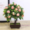 Artificial Plants Bonsai Orange Peach Fruit Tree Potted For Home Living Room Decoration Flower Set Shop Hotel Party Decor