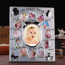 My First Year Baby Gift Kids Birthday Gift Home Family Decoration Ornaments 12 Months Picture Photo Frame Free Customized photo