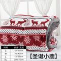 Snowflake Printing Dog Bed