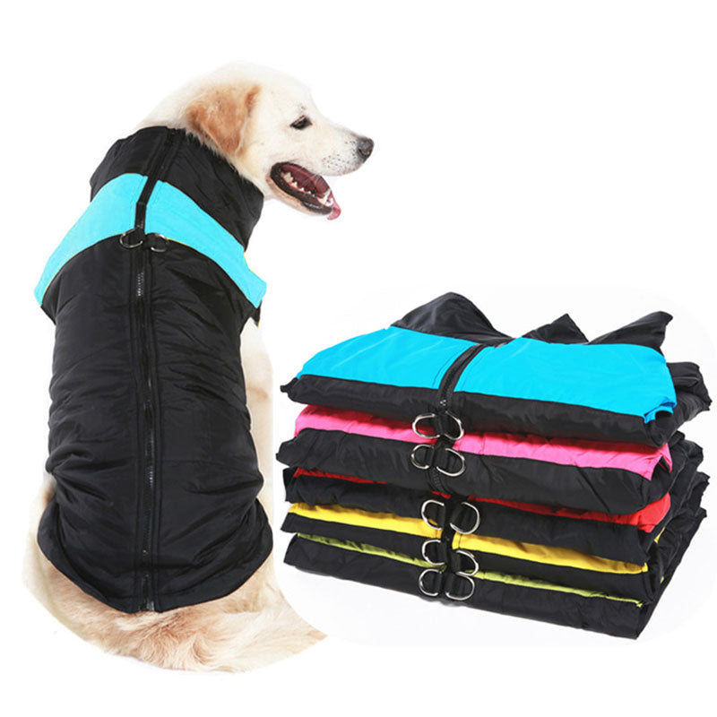 Winter Pet Dog Clothes Warm Big Dog Coat Puppy Clothing Waterproof Pet Vest Jacket For Small Medium Large Dogs Golden Retriever