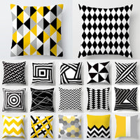 Cojines Decorativos Para Sofa Cushion Cover Yellow Pillow Geometric Polyester Decoration Home Decor Housse de Coussin 40548