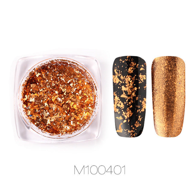 ROSALIND Nail Art Mirror Glitter Flakes Sequins UV Gel Polish Decorations Chrome Pigment Manicure Holographic Nail Powder
