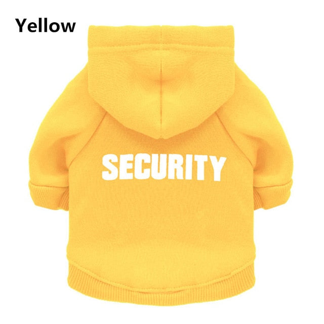 Security Dog Clothes Classic Pet Dog Hoodies Clothes For Small Dog Autumn Coat Jacket for Yorkie Chihuahua Puppy Clothing 10d3S1