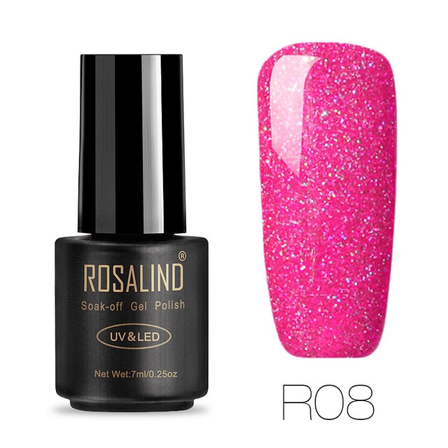 ROSALIND Gel Nails Polish rainbow Hybrid Varnishes 7ML UV Semi Permanent Primer Top Coat Manicure Poly Nail Art Gel Nail Polish