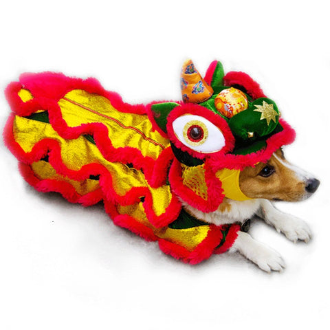 Funny Dog Clothes Winter Chinese New Year Pet Clothing Poodle Pug Corgi Clothing Small Dog Costume Apparel Outfits Pet Products