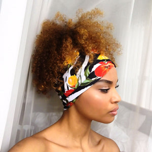 Checkmate x Atelier APL Zebra Flower Head Band