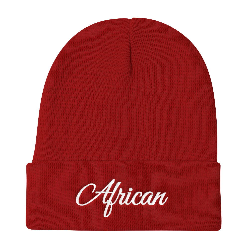 fab88534a90 African Signature Beanie Hat - Checkmate Apparel