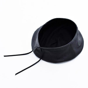 Leather Beret Hat